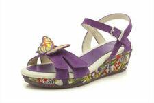 Sandales multicolores en cuir pour fille de 2 à 16 ans