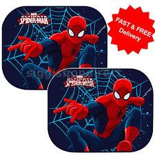 2 X nuevo coche ventana sombrillas Spiderman Ultimate UV persianas Niños Niños Bebé 64