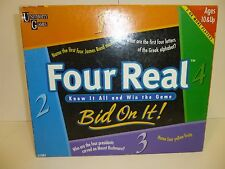 FOUR REAL BID ON IT GAME 1999 UNIVERSITY GAME MADE IN USA COMPLETE 10 AND UP B51