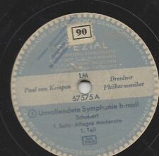 3 Schellacks - Paul van Kempen dirigiert Franz Schubert 1940 : Unvollendete