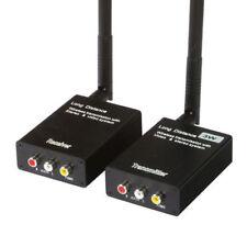 3W 2KM Wireless Audio Video AV Transmitter Sender Receiver CCTV Cam 2.4GHz 12V