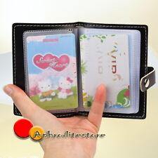 Portacarte di Credito Portafoglio Nero 110x78mm Carta Artificiale Pelle Uomo