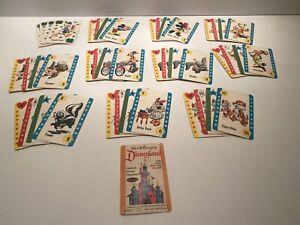 1964 Vintage Children's Card Game Deck of 45 cards WALT DISNEY'S DISNEYLAND