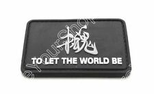 """Metal Gear Solid """"To Let The World Be"""" 3D Army Morale Parche Hook Loop Patch"""