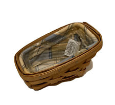 Longaberger 2003 Small Vegetable Sleigh Basket With Liner & Protector