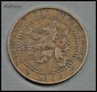 Netherlands 1 Cent Coin~1904 Wilhelmina I~Bronze 2.5g~KM#132.1~VF~#373