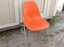 Vintage Original  Herman Miller Eames Stacking Orange Fiberglass Shell Chair
