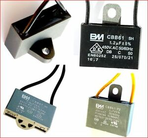 CBB61 motor fan start capacitor BM QUALITY 0.8,1,1.2,1.5,1.8,2 uF UKsellr–ref874
