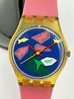 Swatch Watch  LK100 Aqua Dream - 1986 - 25mm Women's Working New Battery Vintage