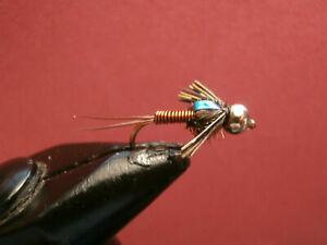 1 DOZEN  BEAD HEAD COPPER JOHN NYMPHS FOR FLY FISHING-BH 6