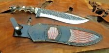 Flintknaped finish d2 tool steel blade HAND Made knife