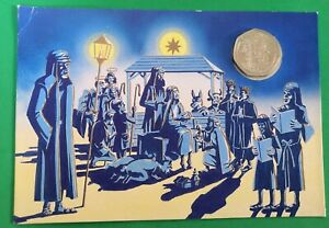 Gibraltar 1991 Christmas 50p. In card signed by Pobjoy family.