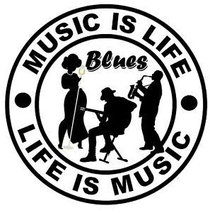 Musique If Life (Blues Music) - Fun Voiture / Autocollants pour