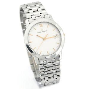ETERNA • Matic 3400.41 Herren Edelstahl Armbanduhr Automatik Glasboden Date 1995