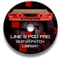 LINE 6 POD PRO - PRE-PROGRAMMED TONE PATCHES CD - OVER 1,650! GUITAR EFFECTS