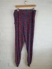 Tu Purple Orange Paisley Pattern Hippy Comfy Hareem Pants Size UK 18