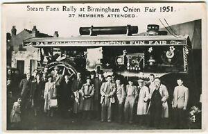 PAT COLLINS FAIRGROUND, STEAM ENGINE, BIRMINGHAM - Warwickshire Photo Postcard