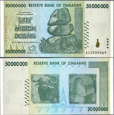 50 MILLION ZIMBABWE DOLLAR MONEY CURRENCY.Ccirculated XF *10 20 50 100 Trillion*