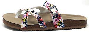 Madden Girl Womens Emma Slide Sandals White Floral Multi Size 10 M US