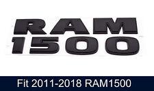 1pc Matte Black Ram 1500 Front Fender Door Emblem Badge Nameplate 3d Logo Oem