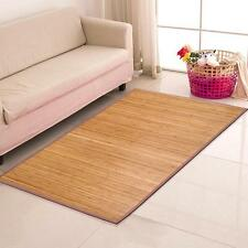 4' x 6' Brown Bamboo Rug Area Mat Bamboo Wood Carpet Natural Easy to Clean US