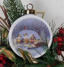 Christmas Ornament Wnter Scene Inspirational Northwestern in Box Round