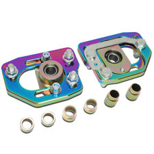 Fit 90-93 Ford Mustang Pair Front Adjustable Camber/Caster Plates Neo Chrome