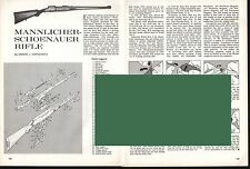MANNLICHER-SCHOENAUER Rifle Exploded View Parts List 2-pg Assembly Article