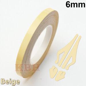 "6mm x 9.8m Pinstripe Solid Pin Stripe Tape Vinyl Decal Sticker Car 1/4"" Beige"