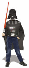 Licensed Child Darth Vader Star Wars Kids Fancy Dress Costume + Lightsaber