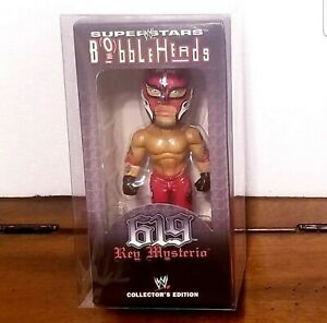 "🌎⭐RARE! Rey Mysterio 8"" in. WWE SUPERSTAR BOBBLEHEAD collector edition w/og box"