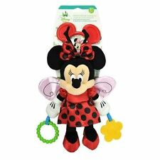"""Disney Baby Minnie Mouse Ladybug Attachable Activity Toy 10"""" 25cm Kids Gift"""