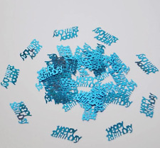 Birthday Party Confetti Table Scatters Supplies - Happy Birthday Blue
