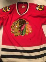 Vintage Chicago Blackhawks Hockey Jersey CCM NHL Men's Small Stitched 90's GOOD