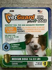 Dog Flea Tick Lice Treatment Control Medicine 6 Month Prevention For Medium Dogs