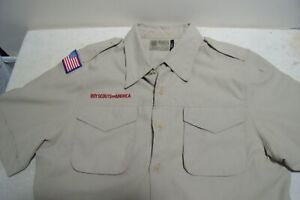 Scouts BSA Mens Shirt SMALL Official Polyester Uniform Vented NO PATCHES