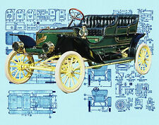 Build a Model Car 1/16 scale  STANLEY STEAMER full size Printed plans & Notes
