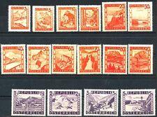 Austria 1947 Scenic Types Complete Set 16 Mnh Scott's 500 to 515