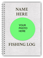 A5 FISHING LOG BOOK/ DAILY FISHING DIARY/ PHOTO PERSONALISED FISHERMAN'S GIFT/O1
