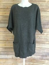 Bcbg Max Azria Cashmere blend Sweater Size Small Gray Angora Wool Tunic Pullover