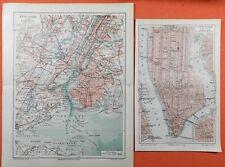 NEW YORK und Umgebung Brooklyn Landkarte von 1905 Map Jamaica Bay Coney Island