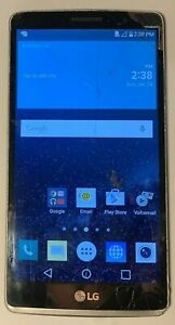 LG G Stylo G LG-H361 8GB Silver (T-Mobile) Cracked Glass Fast Ship Fair Used
