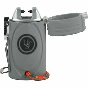 UST TekFire Gray Durable Fuel-Free Lightweight and Compact Lighter w/ LED Light