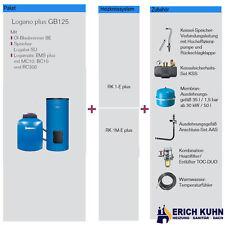 Buderus GB125 Öl-Brennwert Paket K32 mit 30 kW und 200 Liter Speicher