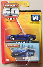 Blue Aston Martin Dbs Volante Matchbox 60 Anniversary Diecast Model 1:64