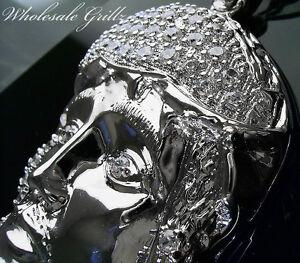 FLASHY $199 WHITE GOLD GP HIPHOP JESUS PIECE HEAD SIMULATE DIAMOND CHARM PENDANT
