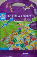 Snakes & Ladders Magnetic Travel Board Game Kids Children in Sealable Carry Bag