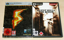 2 PC SPIELE SET - RESIDENT EVIL 5 STEELBOOK & SILENT HILL 4 THE ROOM - FSK 18