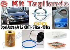 KIT TAGLIANDO OLIO OPEL GM 5W30 + FILTRI OPEL ASTRA J 1.7 CDTI DAL 2010 --> *