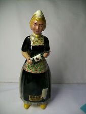 "VINTAGE BOLS DECANTER MADE IN HOLLAND , MARKED  DUTCH LADY     10""   OLD FIGURE"